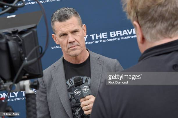 Actor Josh Brolin attends 'Only The Brave' Nashville screening hosted by Dierks Bentley at The Belcourt Theatre on October 12 2017 in Nashville...