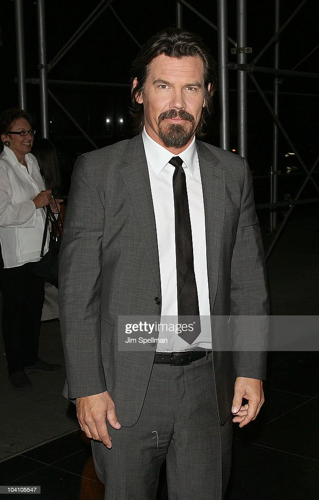 Actor Josh Brolin attends the Cinema Society and BlackBerry Torch screening of 'You Will Meet a Tall Dark Stranger' at MOMA on September 14 2010 in...