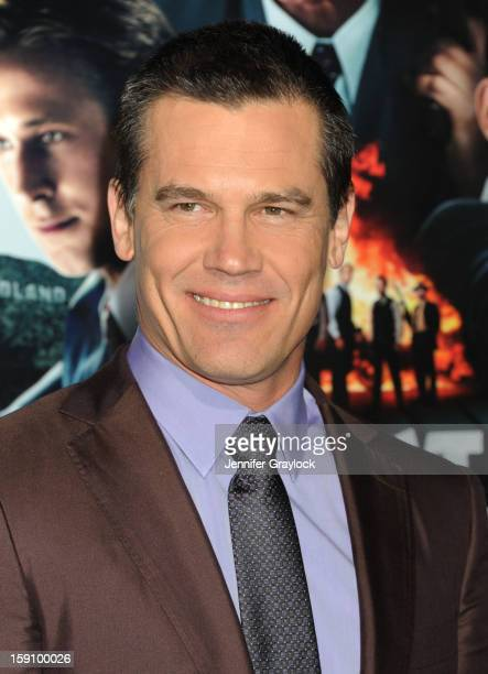 Actor Josh Brolin attends the 'Gangster Squad' Los Angeles premiere held at Grauman's Chinese Theatre on January 7 2013 in Hollywood California