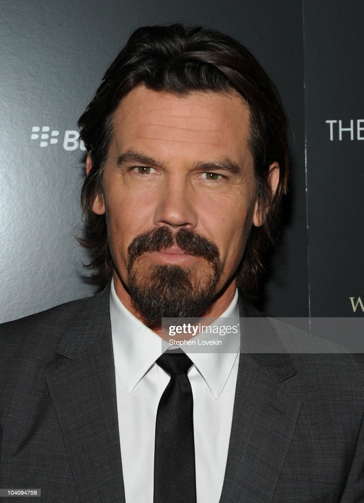 Actor Josh Brolin attends the screening of 'You Will Meet a Tall Dark Stranger' hosted by The Cinema Society and BlackBerry Torch at MOMA on...