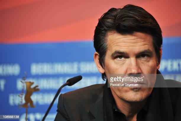 Actor Josh Brolin attends the 'True Grit' press conference during the opening day of the 61st Berlin International Film Festival at the Grand Hyatt...