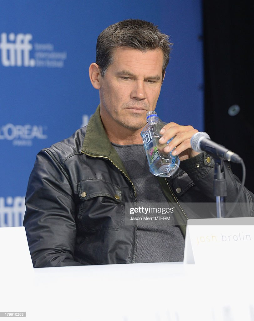 Actor <a gi-track='captionPersonalityLinkClicked' href=/galleries/search?phrase=Josh+Brolin&family=editorial&specificpeople=243198 ng-click='$event.stopPropagation()'>Josh Brolin</a> speaks onstage at 'Labor Day' Press Conference during the 2013 Toronto International Film Festival at TIFF Bell Lightbox on September 7, 2013 in Toronto, Canada.