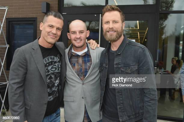 Actor Josh Brolin tech advisor Pat McCarty and singersongwriter Dierks Bently attend 'Only The Brave' Nashville screening hosted by Dierks Bentley at...