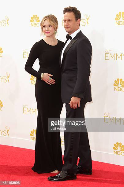 Actor Josh Carles and Sophie Flack attend the 66th Annual Primetime Emmy Awards held at Nokia Theatre LA Live on August 25 2014 in Los Angeles...