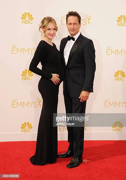 Actor Josh Charles and Sophie Flack arrive at the 66th Annual Primetime Emmy Awards at Nokia Theatre LA Live on August 25 2014 in Los Angeles...