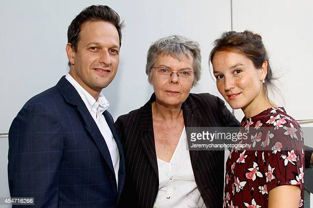 Actor Josh Charles film director Pascale Ferran and actress Anaïs Demoustier attends the 'Bird People' premiere during the 2014 Toronto International...