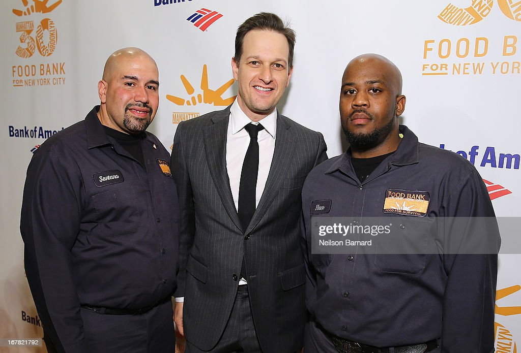 Actor <a gi-track='captionPersonalityLinkClicked' href=/galleries/search?phrase=Josh+Charles&family=editorial&specificpeople=240614 ng-click='$event.stopPropagation()'>Josh Charles</a> poses with Santana (L) and Hace (R) from Food Bank For New York City at the Food Bank For New York City's Can-Do Awards celebrating 30 years of service to NYC on April 30, 2013 in New York City.