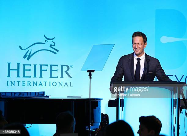 Actor Josh Charles speaks onstage at Heifer International's 3rd Annual 'Beyond Hunger A Place At The Table' Gala at Montage Beverly Hills on August...