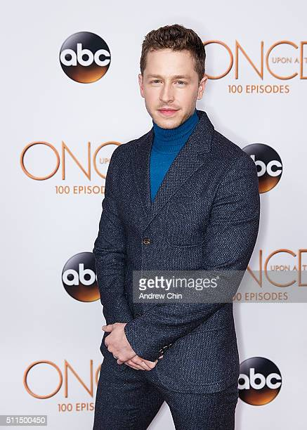 Actor Josh Dallas attends the 100th episode celebration of 'Once Upon A Time' at Storybrooke Cannery on February 20 2016 in Vancouver Canada