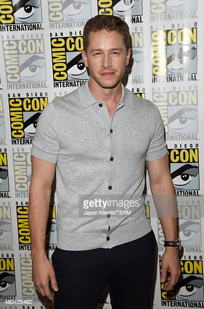 Actor Josh Dallas attends the 'Once Upon A Time' press room during ComicCon International 2015 at the Hilton Bayfront on July 11 2015 in San Diego...