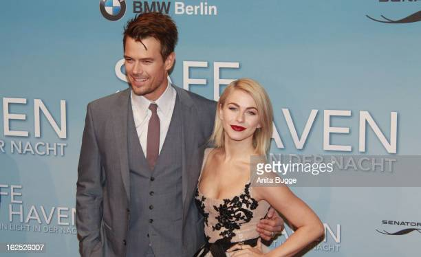 Actor Josh Duhamel and actress Julianne Hough attend the 'Safe Haven Wie ein Licht in dunkler Nacht' Germany Premiere at Cinestar on February 24 2013...