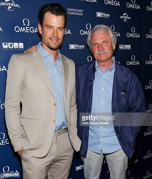 Actor Josh Duhamel and director Yann ArthusBertrand attend the premiere of 'Planet Ocean' at Pacific Design Center on April 18 2013 in West Hollywood...
