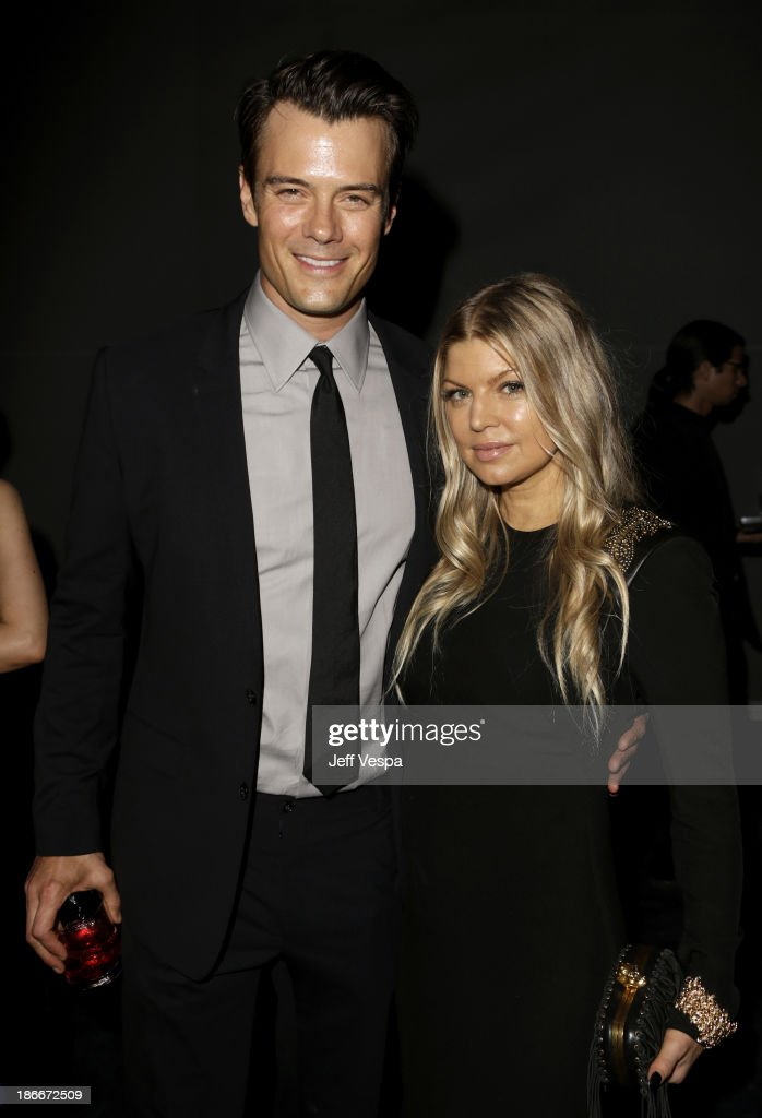 Actor <a gi-track='captionPersonalityLinkClicked' href=/galleries/search?phrase=Josh+Duhamel&family=editorial&specificpeople=208740 ng-click='$event.stopPropagation()'>Josh Duhamel</a> (L) and recording artist Fergie attend the LACMA 2013 Art + Film Gala honoring Martin Scorsese and David Hockney presented by Gucci at LACMA on November 2, 2013 in Los Angeles, California.