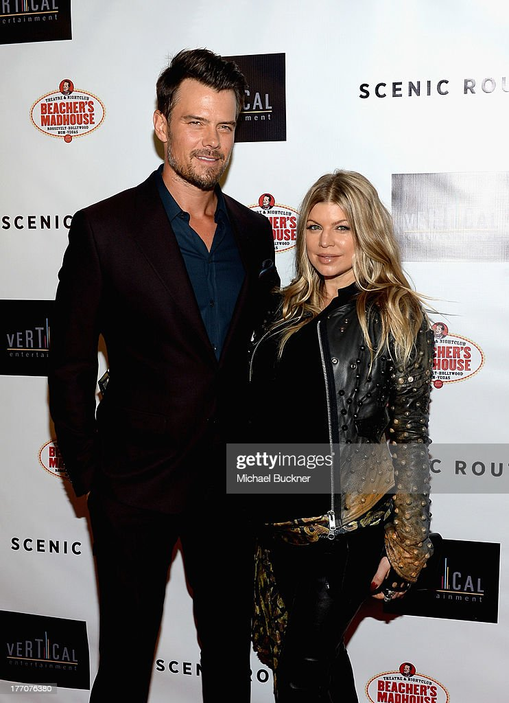Actor <a gi-track='captionPersonalityLinkClicked' href=/galleries/search?phrase=Josh+Duhamel&family=editorial&specificpeople=208740 ng-click='$event.stopPropagation()'>Josh Duhamel</a> and singer Fergie arrive at the premiere of Vertical Entertainment's 'Scenic Route' at Chinese 6 Theater- Hollywood on August 20, 2013 in Hollywood, California.