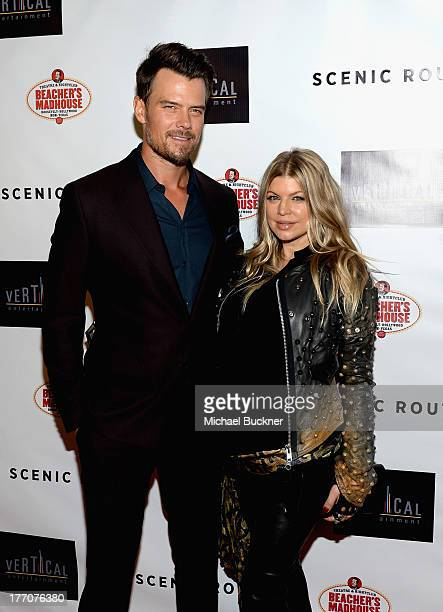 Actor Josh Duhamel and singer Fergie arrive at the premiere of Vertical Entertainment's 'Scenic Route' at Chinese 6 Theater Hollywood on August 20...