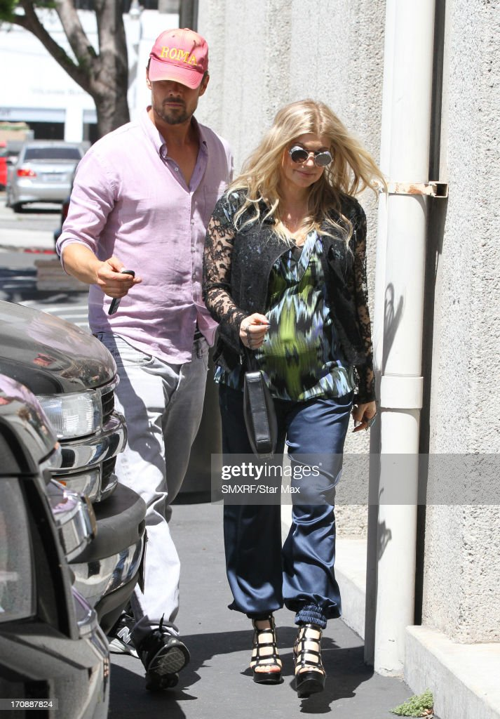 Actor <a gi-track='captionPersonalityLinkClicked' href=/galleries/search?phrase=Josh+Duhamel&family=editorial&specificpeople=208740 ng-click='$event.stopPropagation()'>Josh Duhamel</a> and singer Fergie as seen on June 19, 2013 in Los Angeles, California.
