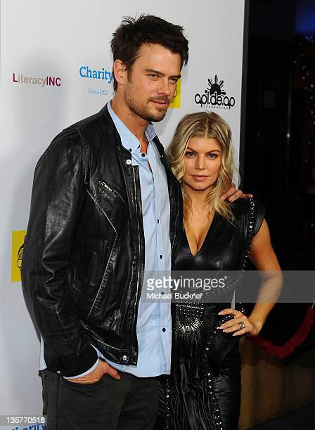 Actor Josh Duhamel and singer fergie attend APLDeAp's Birthday Celebration and Launch of Charity Dreams at The Conga Room at LA Live on December 13...