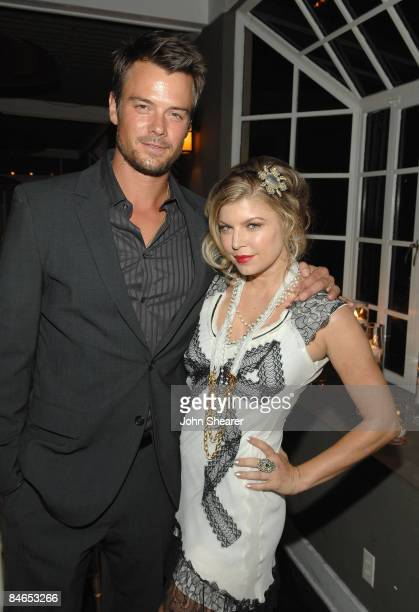 Actor Josh Duhamel and singer Fergie attend the Vanity Fair and Krug dinner at the Chateau Marmont on February 4 2009 in West Hollywood California