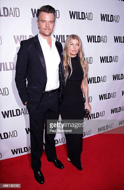 Actor Josh Duhamel and singer Fergie attend WildAid 2015 at Montage Hotel on November 7 2015 in Beverly Hills California