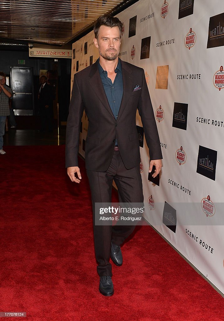 Actor <a gi-track='captionPersonalityLinkClicked' href=/galleries/search?phrase=Josh+Duhamel&family=editorial&specificpeople=208740 ng-click='$event.stopPropagation()'>Josh Duhamel</a> arrives at the premiere of Vertical Entertainment's 'Scenic Route' at Chinese 6 Theater- Hollywood on August 20, 2013 in Hollywood, California.