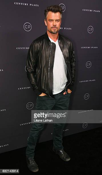 Actor Josh Duhamel arrives for the unveiling celebration of the new Century Plaza Hotel and residences in Century City on January 19 2017 in Los...