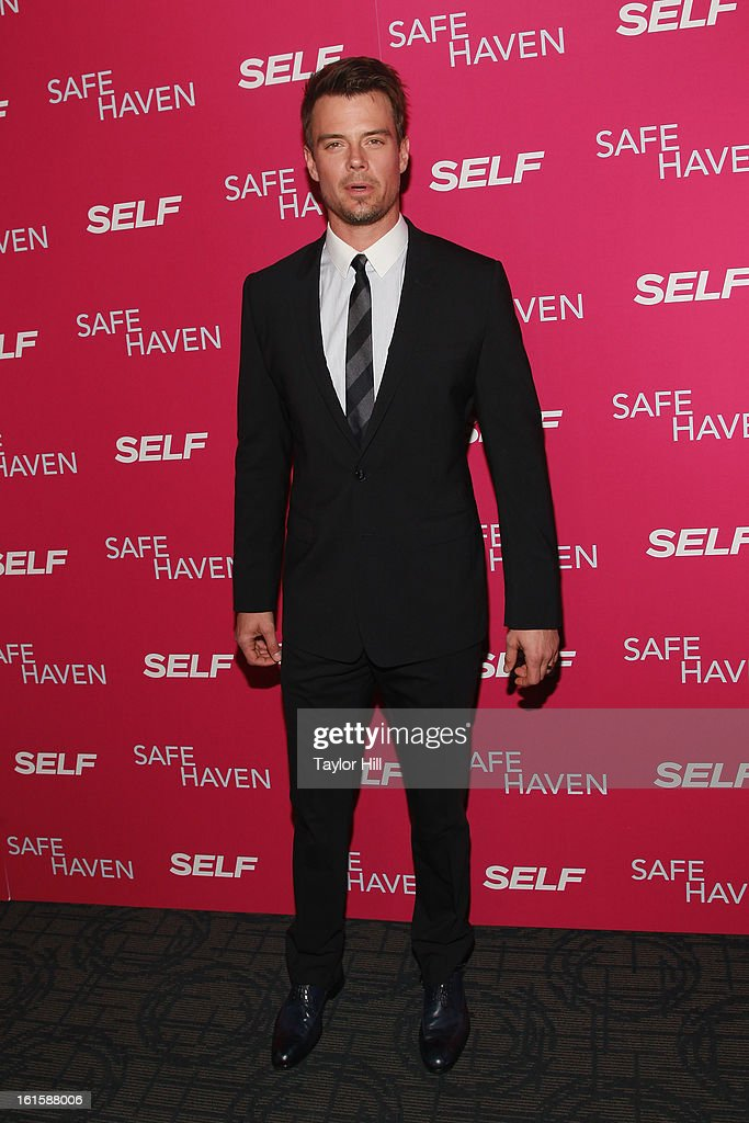 Actor <a gi-track='captionPersonalityLinkClicked' href=/galleries/search?phrase=Josh+Duhamel&family=editorial&specificpeople=208740 ng-click='$event.stopPropagation()'>Josh Duhamel</a> attends a New York screening of 'Safe Haven' at Landmark Sunshine Cinema on February 11, 2013 in New York City.