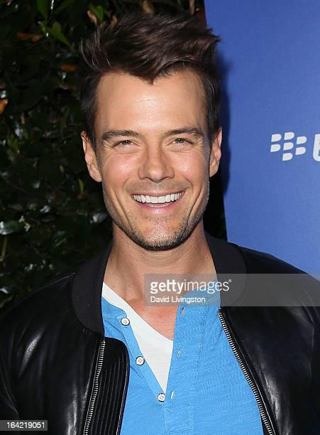 Actor Josh Duhamel attends the BlackBerry Z10 Smartphone launch party at Cecconi's Restaurant on March 20 2013 in Los Angeles California