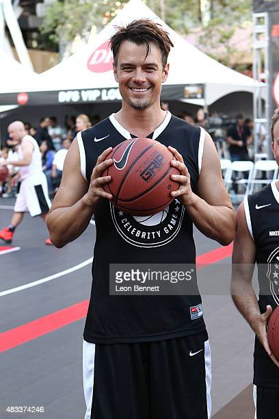 Actor Josh Duhamel attends the ESPNLA All Star Celebrity Basketball Game Kick Off to the 2015 Nike Basketball 3ON3 Tournament Presented By NBC4...