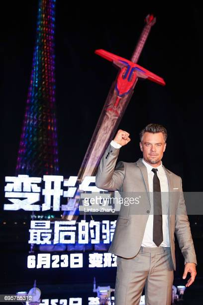Actor Josh Duhamel attends the 'Transformers The Last Knight' China World Premiere and Ten Year Anniversary Celebration at Haixinsha Asian Olympic...