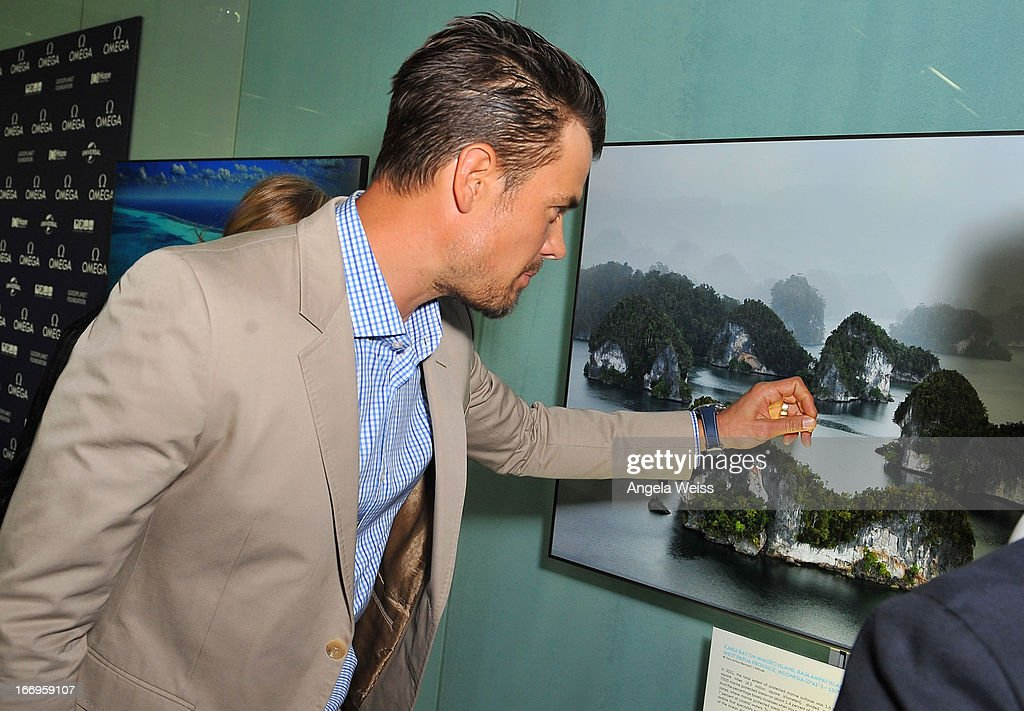 Actor <a gi-track='captionPersonalityLinkClicked' href=/galleries/search?phrase=Josh+Duhamel&family=editorial&specificpeople=208740 ng-click='$event.stopPropagation()'>Josh Duhamel</a> attends the US launch of 'Planet Ocean' presented by Omega Watches at Pacific Design Center on April 18, 2013 in West Hollywood, California.