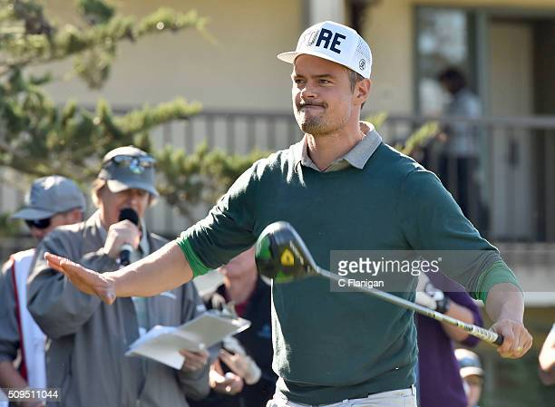 Actor Josh Duhamel is seen at the 3M Celebrity Challenge during the ATT Pebble Beach National ProAm at Pebble Beach Golf Links on February 10 2016 in...