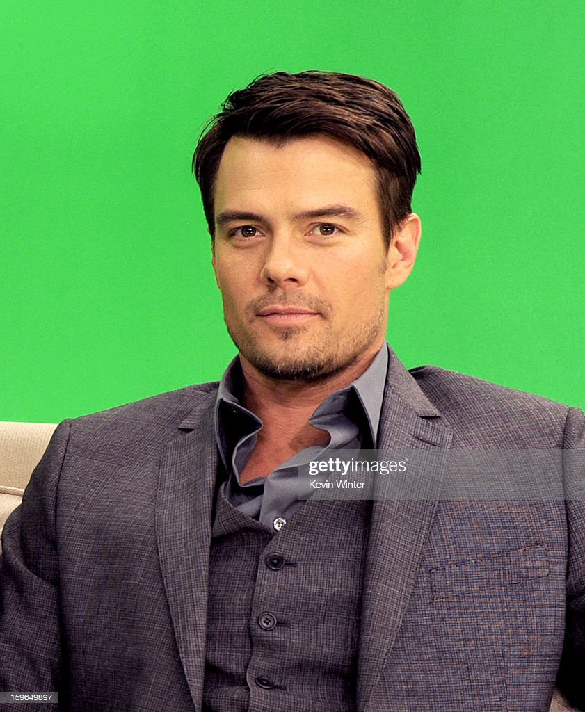 Actor Josh Duhamel poses at A Night with Nicholas Sparks' Safe Haven: Filmmakers, Author and Stars Bring The Book To Life at Castle Studios on January 17, 2013 in Burbank, California.