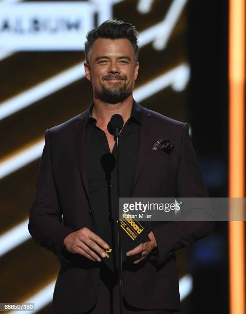 Actor Josh Duhamel speaks onstage during the 2017 Billboard Music Awards at TMobile Arena on May 21 2017 in Las Vegas Nevada