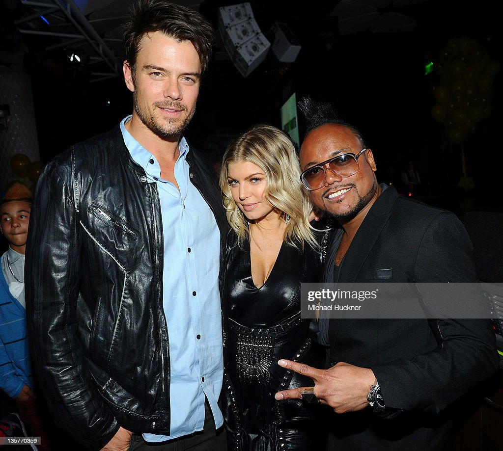 Actor <a gi-track='captionPersonalityLinkClicked' href=/galleries/search?phrase=Josh+Duhamel&family=editorial&specificpeople=208740 ng-click='$event.stopPropagation()'>Josh Duhamel</a>, singer Fergie and <a gi-track='captionPersonalityLinkClicked' href=/galleries/search?phrase=Apl.de.Ap&family=editorial&specificpeople=210627 ng-click='$event.stopPropagation()'>Apl.de.Ap</a> attend APL.De.Ap's Birthday Celebration and Launch of Charity Dreams at The Conga Room at L.A. Live on December 13, 2011 in Los Angeles, California.