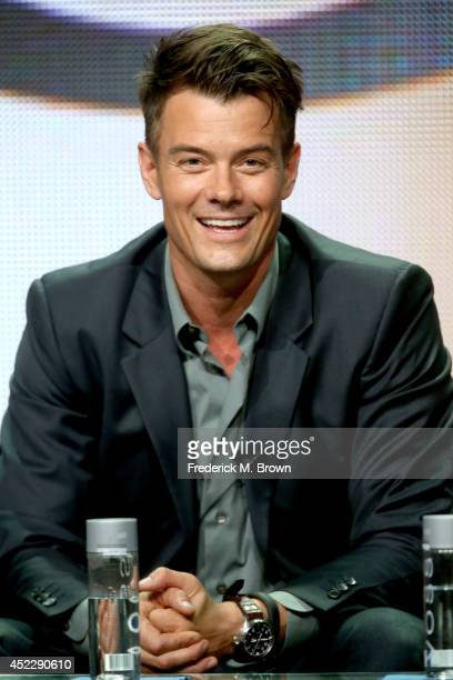 Actor Josh Duhamel speaks onstage at the 'Battle Creek' panel during the CBS Network portion of the 2014 Summer Television Critics Association at The...