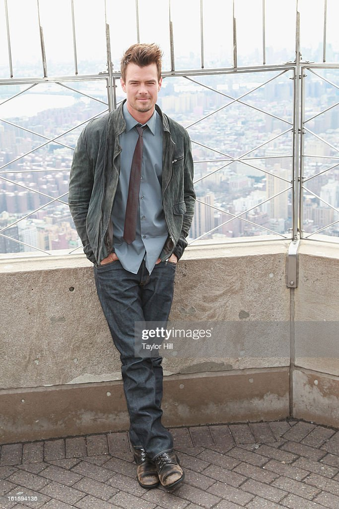 Actor <a gi-track='captionPersonalityLinkClicked' href=/galleries/search?phrase=Josh+Duhamel&family=editorial&specificpeople=208740 ng-click='$event.stopPropagation()'>Josh Duhamel</a> visits The Empire State Building on February 12, 2013 in New York City.