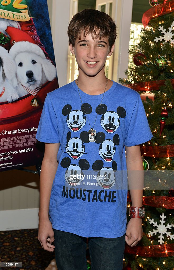 Actor Josh Feldman attends the 'Santa Paws 2: The Santa Pups' holiday party hosted by Disney, Cheryl Ladd, and Ali Landry at The Victorian on November 10, 2012 in Santa Monica, California.