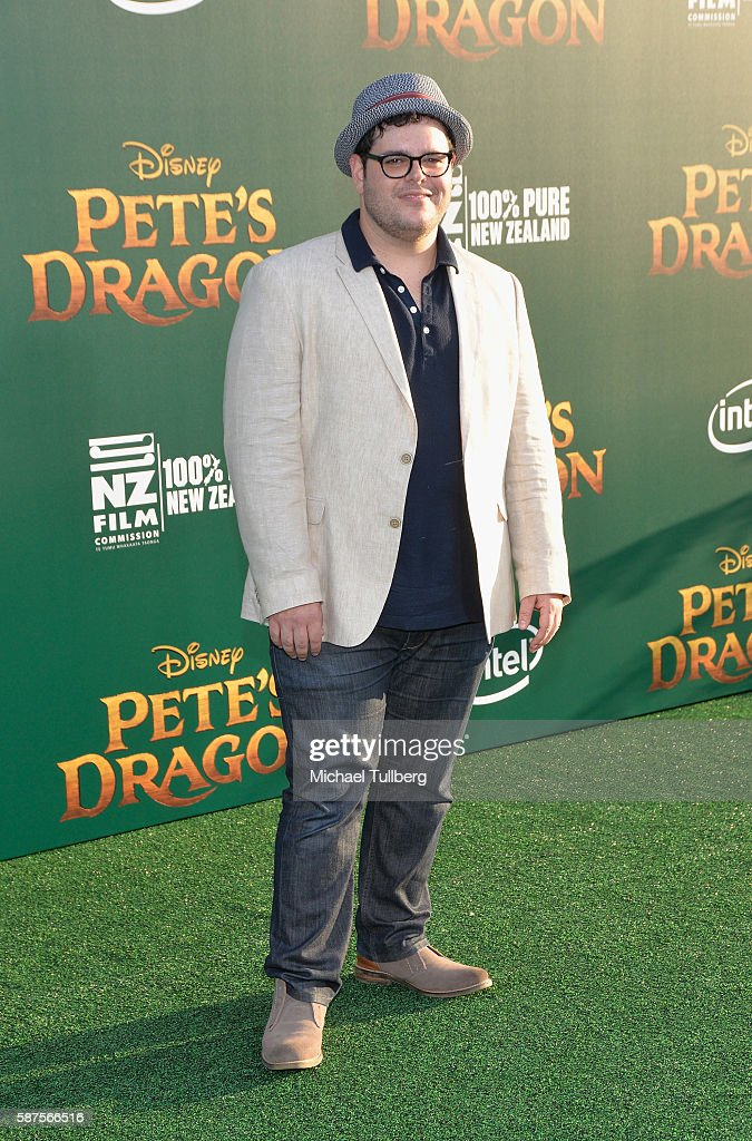 Actor Josh Gad arrives at the Premiere Of Disney's 'Pete's Dragon' at the El Capitan Theatre on August 8 2016 in Hollywood California