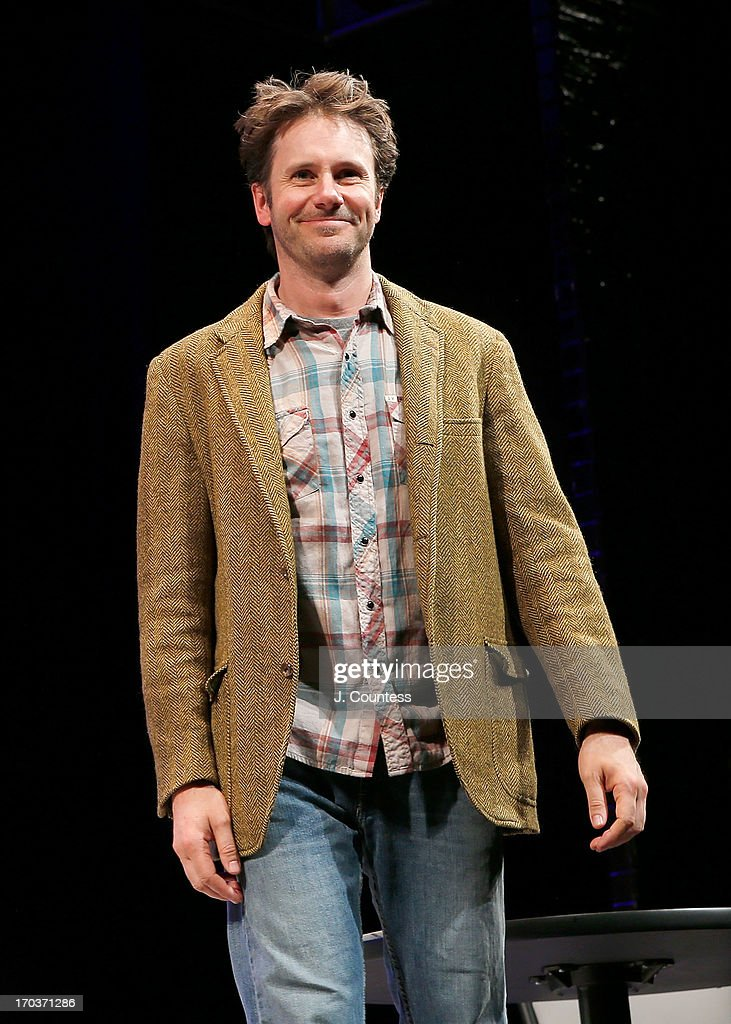 Actor Josh Hamilton takes a bow during curtain call at the 'Reasons To Be Happy' Broadway Opening Night at Lucille Lortel Theatre on June 11, 2013 in New York City.
