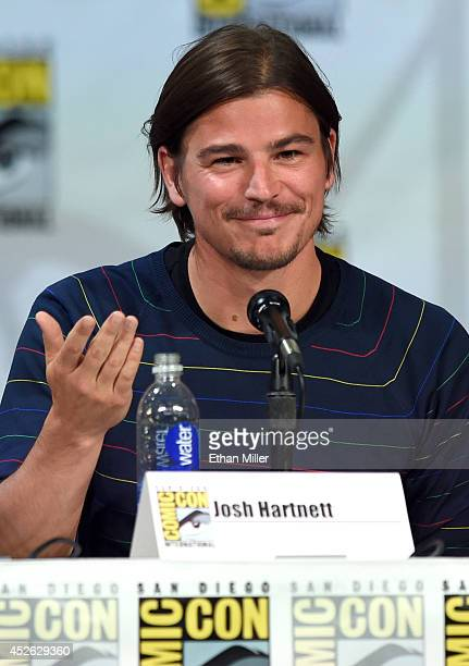 Actor Josh Hartnett attends Showtime's 'Penny Dreadful' panel during ComicCon International 2014 at the San Diego Convention Center on July 24 2014...