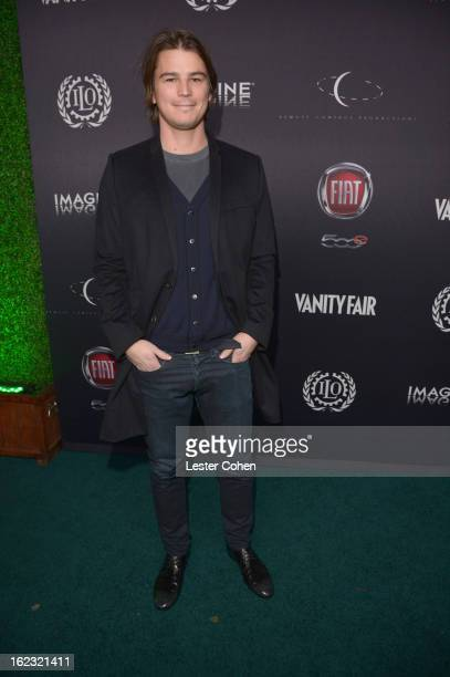 "Actor Josh Hartnett attends Vanity Fair and the Fiat brand Celebration of ""Una Notte Verde"" with Hans Zimmer and Ron Howard in support of The United..."