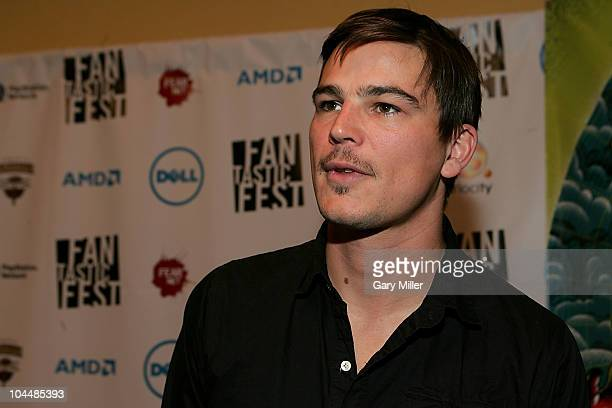 Actor Josh Hartnett on the red carpet for the world premiere of Bunraku during Fantastic Fest at the Alamo Drafthouse on September 26 2010 in Austin...