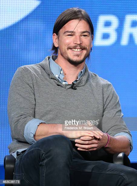 Actor Josh Hartnett speaks onstage during the 'Penny Dreadful' panel discussion at the Showtime portion of the 2014 Winter Television Critics...