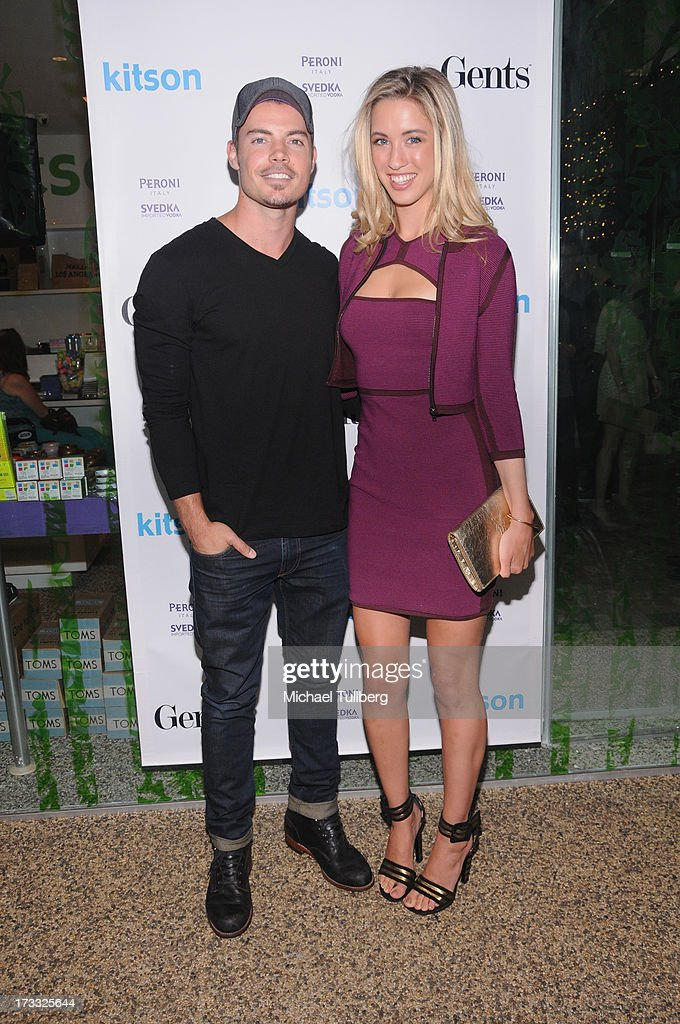 Actor <a gi-track='captionPersonalityLinkClicked' href=/galleries/search?phrase=Josh+Henderson+-+Actor&family=editorial&specificpeople=635918 ng-click='$event.stopPropagation()'>Josh Henderson</a> and model Melissa Bolona attend the Gents At Kitson Launch Event at Kitson on Roberston on July 11, 2013 in Beverly Hills, California.