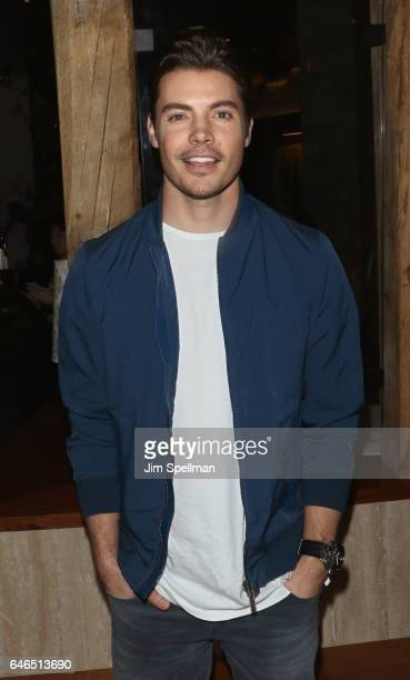 Actor Josh Henderson attends the world premiere after party for 'The Shack' hosted by Lionsgate at Gabriel Kreuther on February 28 2017 in New York...