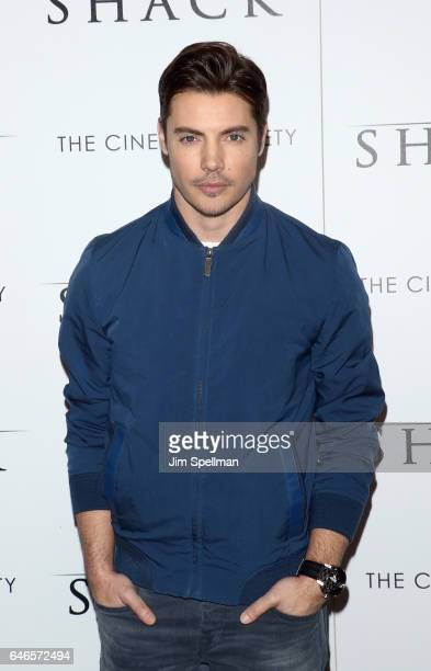 Actor Josh Henderson attends the world premiere of 'The Shack' hosted by Lionsgate at Museum of Modern Art on February 28 2017 in New York City