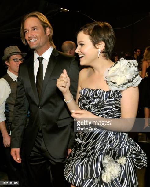 Actor Josh Holloway and actress Ginnifer Goodwin backstage during the People's Choice Awards 2010 held at Nokia Theatre LA Live on January 6 2010 in...