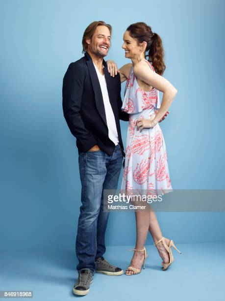 Actor Josh Holloway and actress Sarah Wayne Callies from 'Colony' are photographed for Entertainment Weekly Magazine on July 21 2016 at Comic Con in...