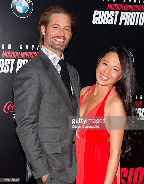 Actor Josh Holloway and wife Yessica Kumala attend the 'Mission Impossible Ghost Protocol' US premiere at the Ziegfeld Theatre on December 19 2011 in...