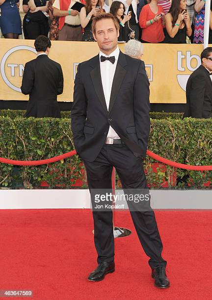 Actor Josh Holloway arrives at the 20th Annual Screen Actors Guild Awards at The Shrine Auditorium on January 18 2014 in Los Angeles California